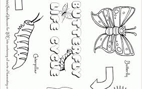 Number Names Worksheets Butterfly Life Cycle Printable Free