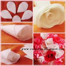 How To Make Rose Flower With Tissue Paper Oviyam Glass Painting Art Crafts Roses Making