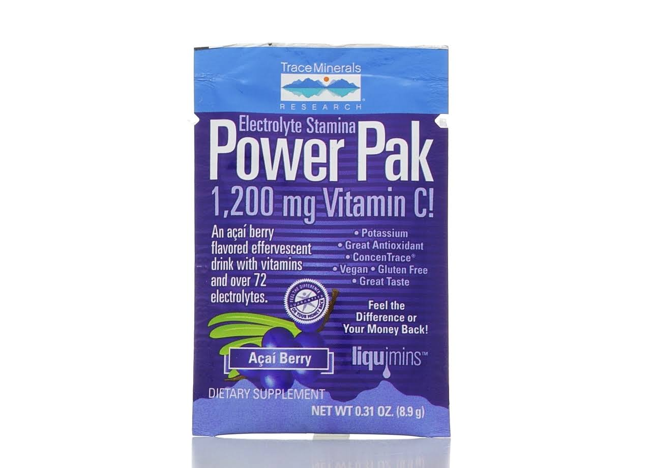 Trace Minerals Electrolyte Stamina Power Pak Acai Berry Single Packet