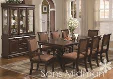 10 Piece Bordeaux Formal Dining Room Table 8 Chairs Buffet W China Hutch NEW