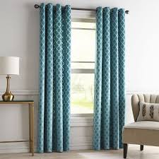 Jc Penney Curtains With Grommets by Velvet Ogee Teal Grommet Curtain Pier 1 Imports For The Home