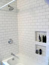 subway tikes grey grout recessed niche for soap search