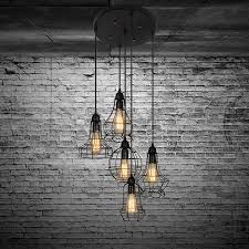 Electro Bprustic Barn Metal Chandelier Max 200w With 5 Light Black Finish Bulb Included