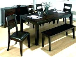 Farmhouse Dining Table And Bench Set Coviar Room Chairs With Of 6 Collection Chicago 2 Black Shop Benches D
