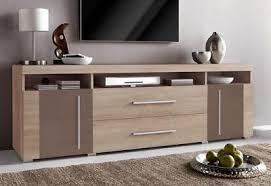 sideboard wohnzimmer schrank eiche dunkel sägerau matt braun