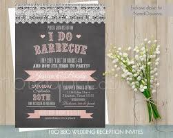 I Do BBQ Wedding Invitation Printable Invitations Wood Or Chalkboard Country Lace Reception Only DIY Digital Template