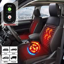 100 Car Seat In Truck WARMITORY Heated Cushion Universial Warmer With 3 Levels Telligent Heating 12V24V Heated Auto Cushion Cover For