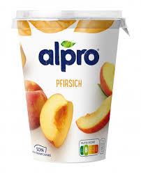 alpro soja joghurtalternative pfirsich vegan