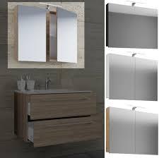 vcm spiegelschrank badspiegel spiegel badezimmer hängespiegel vcb 1 80 cm holz badmöbel spiegelschrank vcb 80cm farbe mit led beleuchtung weiß