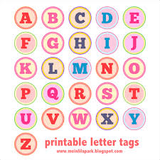 Free Printable Alphabet Letter Tags DIY Buchstaben Sticker Freebie