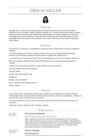 26 Housekeeper Cv Sample Compatible Example Helpful Like Executive Resume With Medium Image
