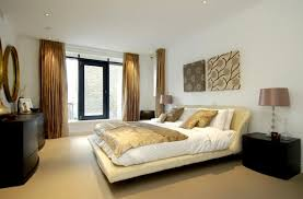 Design Ideas For Bedrooms Prepossessing Bedroom Interior White Wall Background Color With Big Window And Double Night Lamp