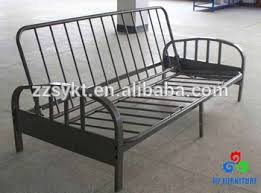 deluxe steel tube design folding futon sofa cum bed frame with