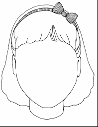 Great Girl Blank Face Template With Coloring Pages And To Print Disney