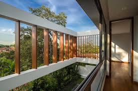 100 Wallflower Architects Rhythmic Timber Louvres Line Namly View House In Singapore Habitus