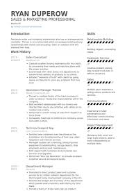 Sales Consultant Cv Example Cover Letter Samples Resume