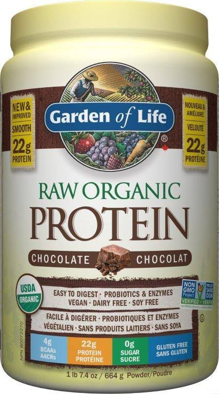 Garden of Life Raw Organic Protein - Chocolate, 664g