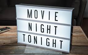 Original Cinema Lightbox Backlit marquee with interchangeable