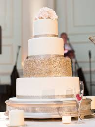 White Wedding Cake With A Single Glitter Covered Tier