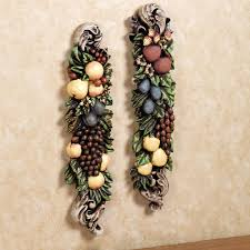 Tuscan Wall Decor Ideas by Tuscan Fruit Wall Plaques Set