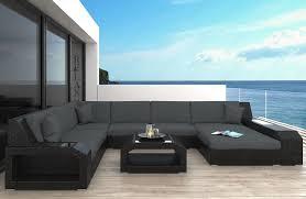 Wicker Patio Sofa Houston L with LED