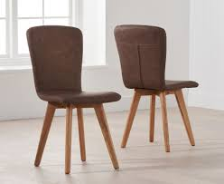 Buy Mark Harris Tribeca Brown Faux Leather Dining Chair (Pair ... 17 Stories Belmiro Modern Genuine Leather Upholstered Ding Chair Industrial Real Black Hayden Range Lea009 Siena Natural James Lane Fniture Shop Tstitch Chocolate Brown Bonded Set Of 6 Amazoncom We Faux Chairs 2 Marianna Cream With Solid Oak Legs White Leather Ding Chairs Dataskerco Monti Danetti Contemporary Chair Upholstered Sled Base Easy Genuine Leather Ding Chairs X 4 Available Wooden You Know It Healey Pu Rubberwood