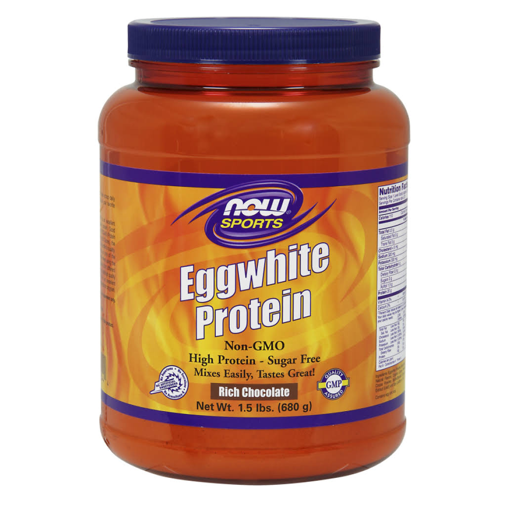 Now Foods Eggwhite Protein Supplement - Rich Chocolate, 1.5lbs