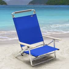 Rio Backpack Chair Aluminum by Copa 5 Position Lay Flat Aluminum Beach Chair Pacific Blue