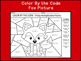 Basic Multiplication Coloring Worksheets Pages