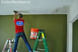Scraping Popcorn Ceiling Off by Diy Popcorn Ceiling Removal The Gathered Home