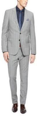 hugo plaid suit hugo ryanwin slim fit 100 italian wool