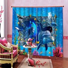 Schlafzimmer Vorhã Nge Großhandel Delphin 3d Vorhänge Schlafzimmer Moderne Vorhang Für Wohnzimmer Schlafzimmer Blackout Foto Küchengardinen Yeyueman1111 61 28 Auf