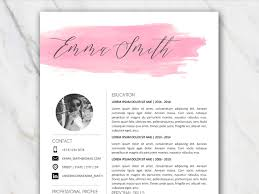 Example Of First Page Free Resume Template In Word With Watercolor Brushstroke