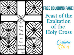 FREE Coloring Page For The Feast Of Exaltation Holy Cross