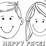 Happy Face Of Boy And Girl