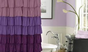 Pink And Purple Ruffle Curtains by Curtains Purple Ruffle Curtains Attraction Pastel Curtains