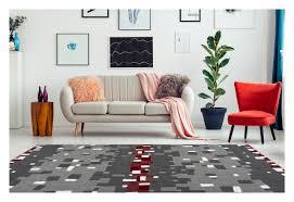 arte espina teppich modern wohnzimmer streifen linien grau