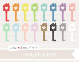 Heart House Key Clipart