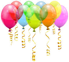 Colorful Balloon Bunch PNG Clipart Image