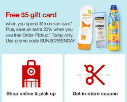 Target Today Only: $5 Gift Card When You Spend $15 On Sun ... Promotion Gift Code For Groupon To Shop Online Target Promo Code Coupons Deals 30 Off Sep 2021 Honey App Review Using Get The Best Price Toy Book Coupons Deals Auto Sales Orlando Weekly Matchup All Things Codes Gift Ideas The Kids Facebook Offer Ads How To Share Drive Sales Coupon Tips Tricks Lovers 40 One Home Item Southern Savers