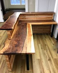 Reclaimed Wood Desk Top Office Furniture Modern Custom Custom Wood Office Furniture Exquist Custom Curved Wood Desk Office