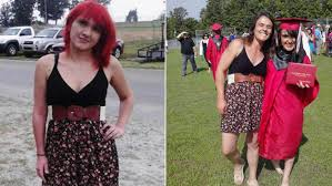 mom wears same dress to graduation that got her daughter sent home