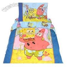 spongebob squarepants patrick 3pc toddler crib comforter quilt