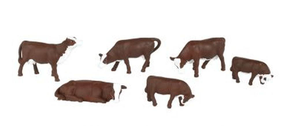 Bachmann Trains Cows Figures - Brown and White
