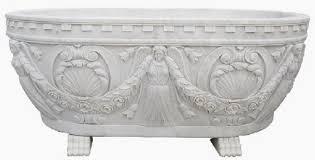 casa padrino luxus barock badewanne weiß 198 cm freistehende marmor badewanne bad accessoires edel prunkvoll