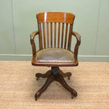 Quality Edwardian Oak Antique Swivel Office Chair - Antiques ...