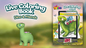 Dino And Friends Augmented Reality Coloring Book App