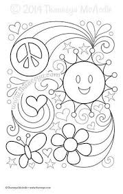 Love Is All Around Coloring Page By Thaneeya McArdle