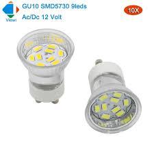 viewi 10x 12 volt led spotlight gu10 bulbs light mini glass cup