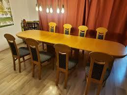 esstisch esszimmertisch tisch ausziehbar mit 12 stühlen